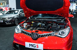 Engine of MG5 car Stock Images