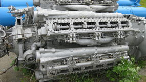Engine of the military boat. Royalty Free Stock Photos