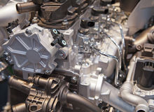 Engine of the modern car Stock Images