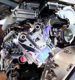 Engine of modern car with lots of details. Stock Images