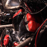 Engine. Modern elements of auto and moto Royalty Free Stock Photography