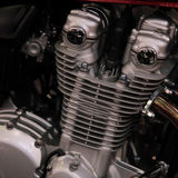 Engine. Modern elements of auto and moto Stock Image