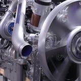 Engine. Modern machine, engineer of motor and mechanism stock image