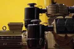Engine. Modern machine, engineer of motor and mechanism stock photo