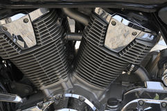 Engine of motobike. Close-up Stock Photography