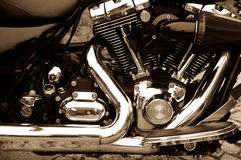 Engine of the motorcycle Royalty Free Stock Photos