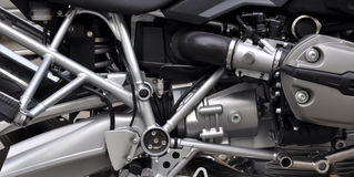 Engine of a motorcycle Royalty Free Stock Image