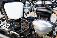Engine Motorcycle. Close up motorcycle engine,Chromium on the engine of the motorcycle Royalty Free Stock Photo