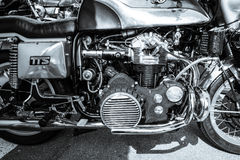 Engine of the motorcycle Munch Mammoth 1200 TTS Stock Photo