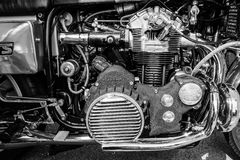 Engine of the motorcycle Munch Mammoth 1200 TTS Stock Images