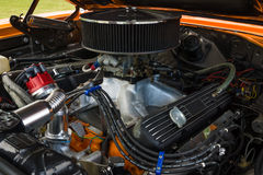 Engine of a muscle car Plymouth GTX Stock Photos