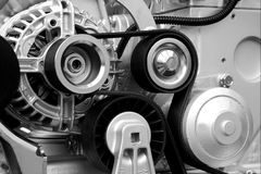 Engine neuve. Courroies de transmition de pouvoir Photographie stock libre de droits