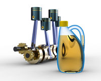 Engine oil Royalty Free Stock Photo