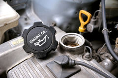 Engine oil cap Royalty Free Stock Photo