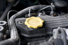 Engine oil cap Stock Image