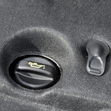 Engine oil reservoir Stock Image