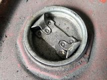 Engine oil tank cap. royalty free stock photo