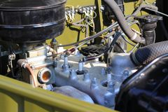 Engine an old car Royalty Free Stock Photography