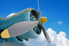 The engine of the old plane Royalty Free Stock Photography