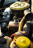Engine, open hood of car Stock Photo