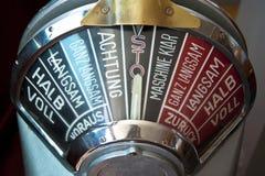 Engine order telegraph Royalty Free Stock Image