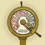 Engine order telegraph  pop art vector Royalty Free Stock Photo