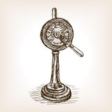 Engine order telegraph sketch style vector Stock Photography