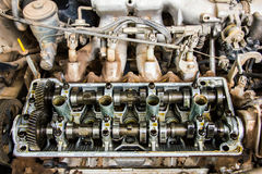 Engine parts headers pistons Royalty Free Stock Image