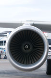 Engine of passenger airplane Royalty Free Stock Photo