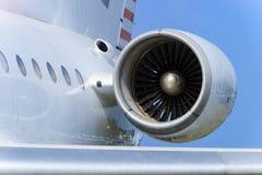 Engine of passenger plane Stock Image
