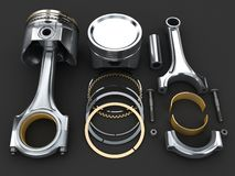 Engine piston Royalty Free Stock Images