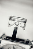 Engine piston, closeup view Royalty Free Stock Images
