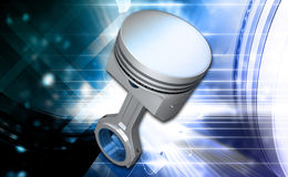 Engine piston. Digital illustration of engine piston in colour background royalty free illustration