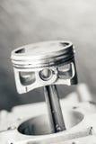 Engine piston on grey background Royalty Free Stock Images