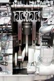 Engine pistons. Close up shot of open engine pistons Stock Photo