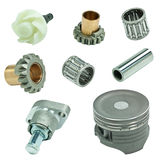 Engine pistons and cog Stock Images