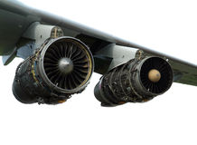Engine of the plane. Royalty Free Stock Photos