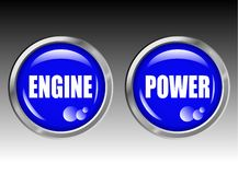 Engine Power Buttons Royalty Free Stock Image