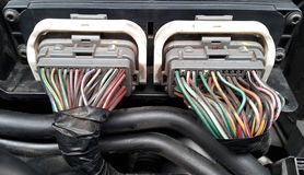 Engine power cables Stock Photography