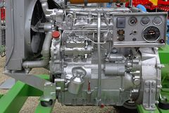 Engine. Powerful diesel engine for agricultural works Royalty Free Stock Images