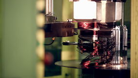Engine production factory. Electric engine production process. stock footage