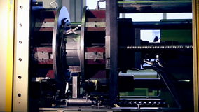 Engine production factory. Electric engine production process. stock video