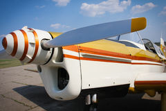 Engine and propeller of plane Royalty Free Stock Image
