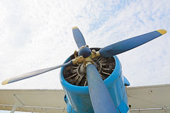 The engine and propeller plane AN2. Royalty Free Stock Image