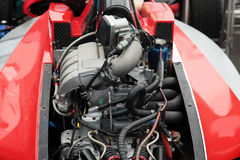 Engine of a racing race car Stock Photos