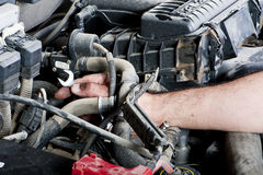 Engine repair Stock Photos