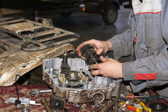 Engine repair service station Royalty Free Stock Image