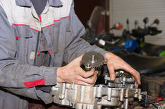 Engine repair service station Stock Images