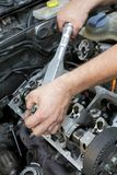 Engine repairing Royalty Free Stock Images