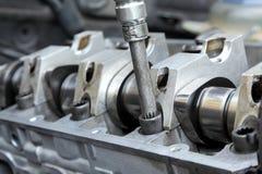 Engine repairing Stock Photo